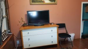 A television and/or entertainment centre at Tulsi's Cozy Studio
