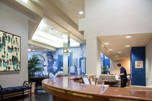The lobby or reception area at Kawada Hotel