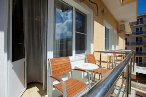 A balcony or terrace at Hotel Corfu