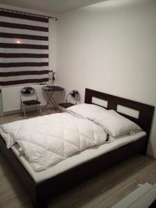 Postel nebo postele na pokoji v ubytování Apartment Pharamis
