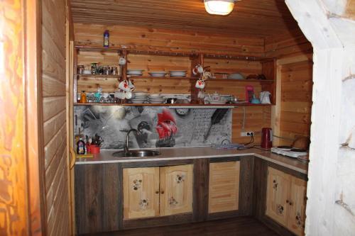Кухня или мини-кухня в Country House Krutoiar
