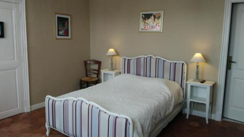 A bed or beds in a room at Hotes Thelle
