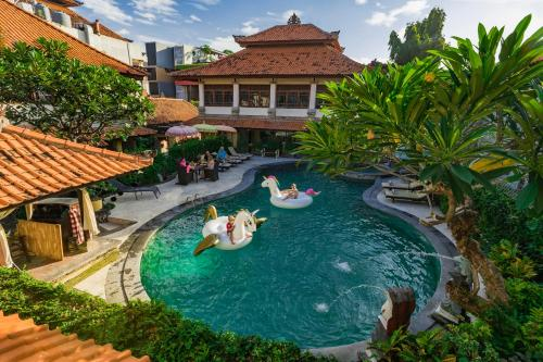 A view of the pool at Royal Tunjung Hotel & Villa Legian or nearby