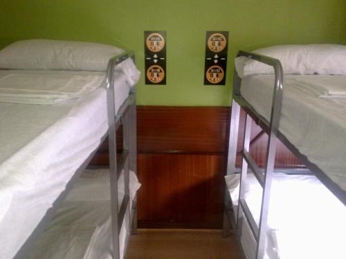Litera o literas de una habitación en Moon Hostel Bio