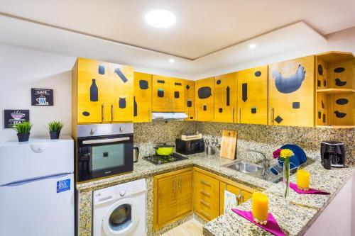 مطبخ أو مطبخ صغير في Appartement Mogador CASABLANCA