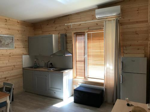 Кухня или мини-кухня в Бамбук Хутор Гостевой дом