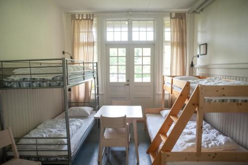 A bunk bed or bunk beds in a room at Ronneby Brunnspark Vandrarhem och B&B