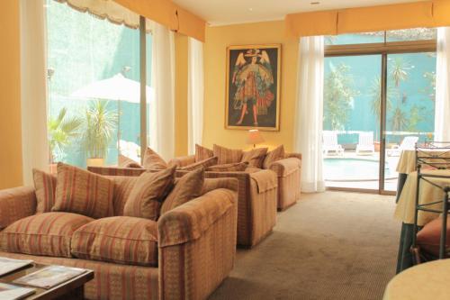 Zona de estar de Hotel Alcala del Rio