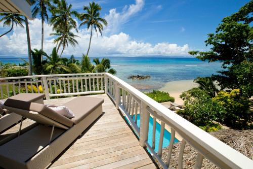 A balcony or terrace at Taveuni Palms Resort