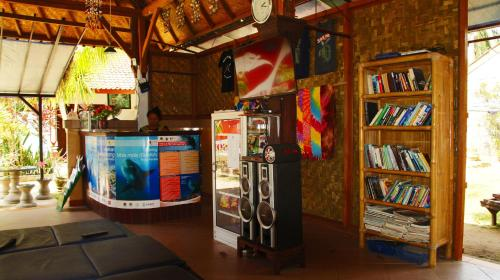 The library in the resort village
