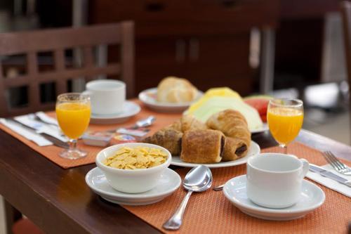 Opciones de desayuno disponibles en Ganivet