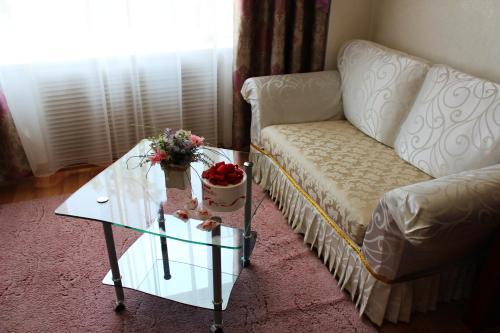 Гостиная зона в Гостиница Турист