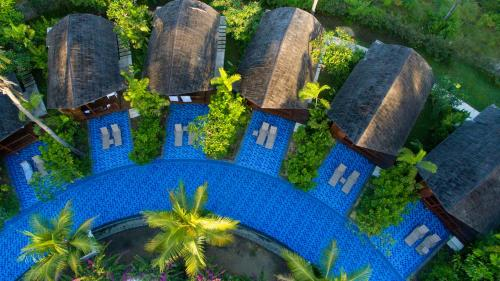 A bird's-eye view of Gili Air Lagoon Resort