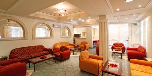 Χώρος καθιστικού στο Ξενοδοχείο Γαλαξίας