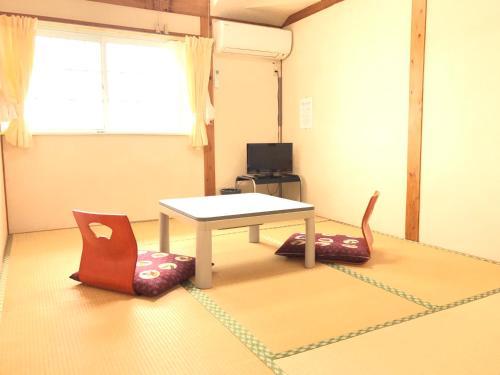 A television and/or entertainment center at Minshuku Yakushima