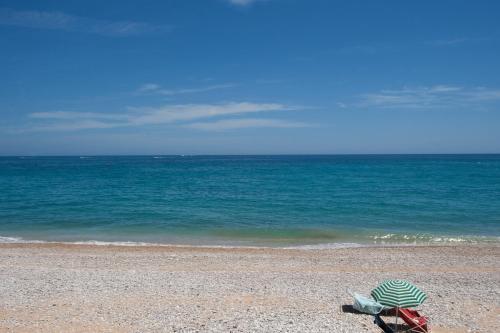 En strand ved eller i nærheten av leiligheten