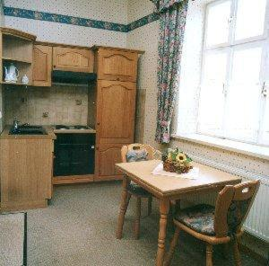 Küche/Küchenzeile in der Unterkunft Altstadtgasthof Krone