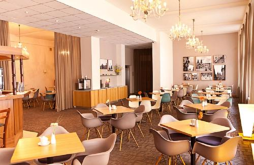A restaurant or other place to eat at Central Hotel Prague