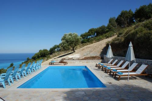 The swimming pool at or near Myrtos View Apartments