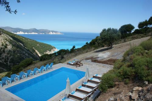 A view of the pool at Myrtos Bay Apartments or nearby