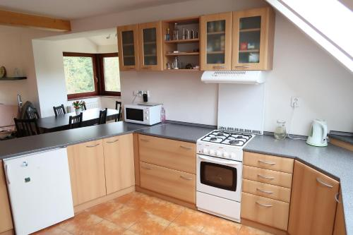 A kitchen or kitchenette at Apartment Tatranská Kotlina