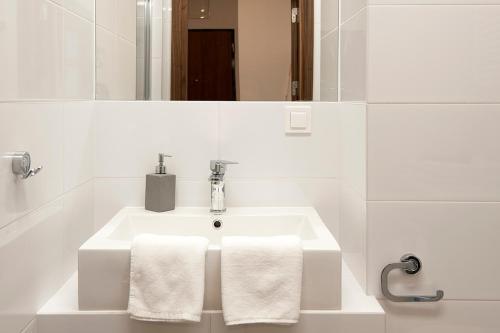 A bathroom at DOMOTEL MOKOTÓW