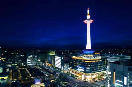 A bird's-eye view of Kyoto Tower Hotel