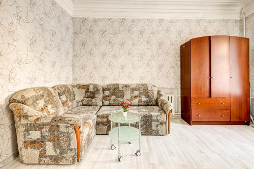 A seating area at Apartments 4-aya Tverskaya-Yamskaya, 4