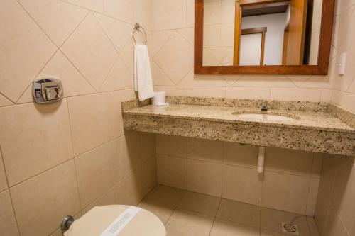 A bathroom at Hotel Aguas Claras