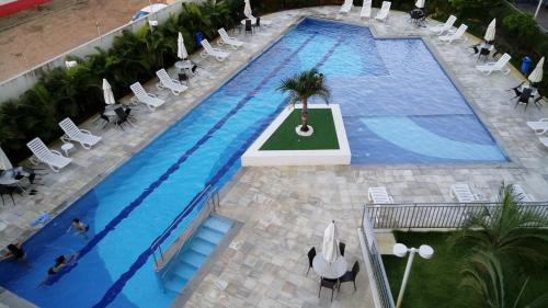A view of the pool at Apartamento na Farolândia or nearby