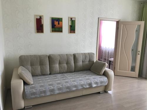 Гостиная зона в Apartment on Leningradskaya 63