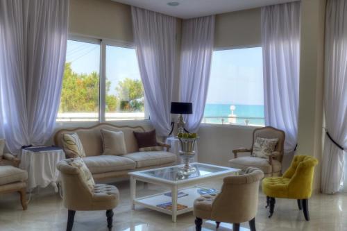 Χώρος καθιστικού στο Sidari Beach Hotel
