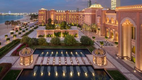 A view of the pool at Emirates Palace, Abu Dhabi or nearby