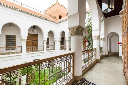 Balcon ou terrasse dans l'établissement Riad Matham