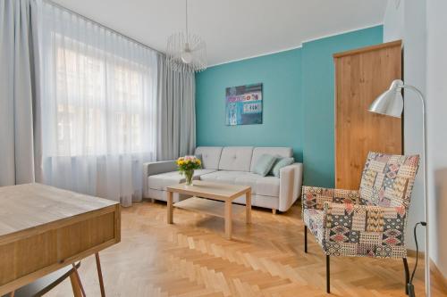 Część wypoczynkowa w obiekcie Apartamenty Gdańsk EU - Apartamenty Gdańsk Stare Miasto