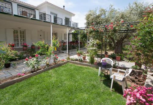 A garden outside Villa Penelope
