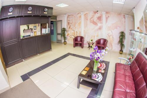 The lobby or reception area at Отель Виктория - ZURO