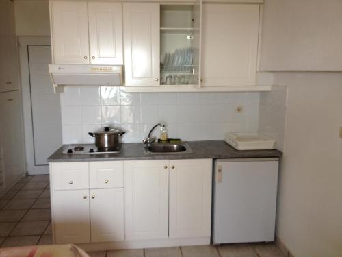 Η κουζίνα ή μικρή κουζίνα στο Gikas Apartments