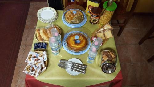 Options de petit-déjeuner proposées aux clients de l'établissement Villa Gengi