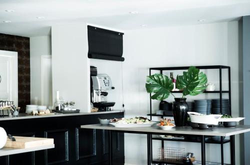 En restaurant eller et andet spisested på Skjalm Hvide Hotel