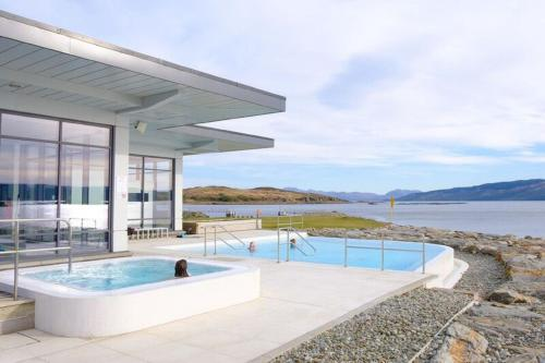 The swimming pool at or close to Portavadie Loch Fyne Scotland