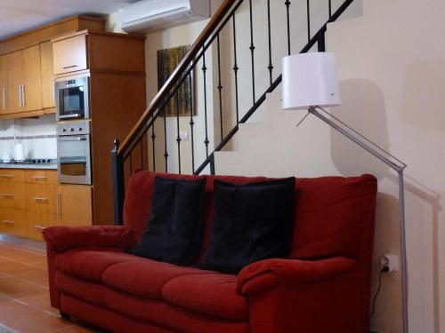 A seating area at A Velha Casa