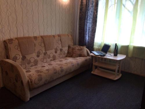 Гостиная зона в 1-room Apartment near Kristal