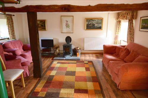 A seating area at Barn Cottage