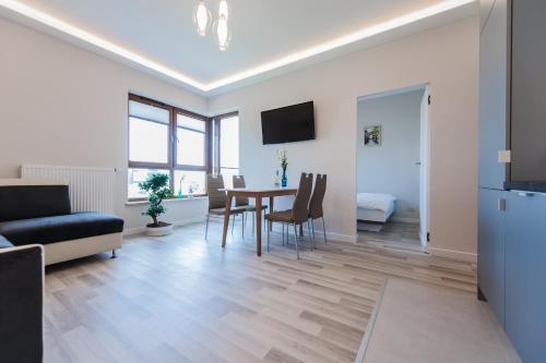 Svetainės erdvė apgyvendinimo įstaigoje Dream&Travel Apartments