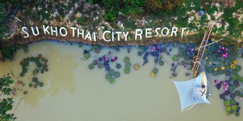 A bird's-eye view of Sukhothai City Resort