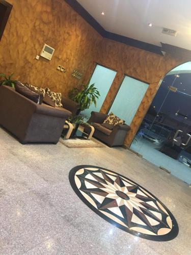 منطقة جلوس في تاج الخليج للشقق الفندقية
