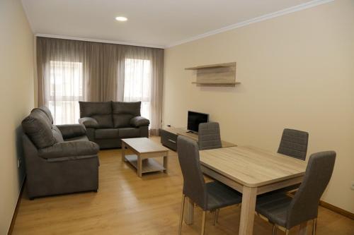 Zona de estar de Alojamiento Caldas de Reis