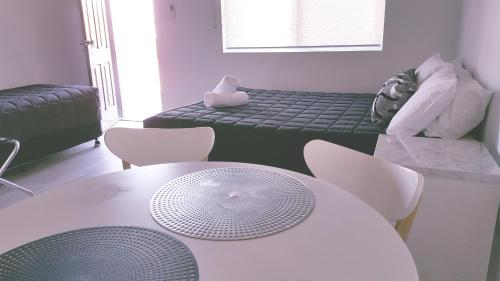 A seating area at AZA Motel