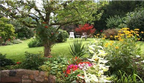 A garden outside Landhaus Weilertal
